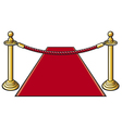 red carpet and rope barrier vector image