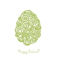 Easter egg for your design vector image