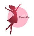 Happy Women Day pink background vector image