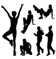 Set of sport silhouettes vector image vector image