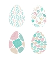 Set of Easter eggs with patterns vector image