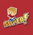 great superhero cartoon vector image