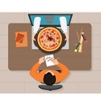 Online pizza order concept Delivery vector image