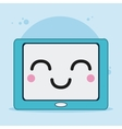 tablet icon Kawaii and technology graphic vector image