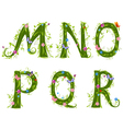 foliage letter 3 vector image vector image
