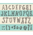 Alphabet Original Doodle Engraved Hand Drawn vector image