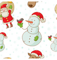christmas figures seamless white vector image