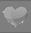 glass heart on transparent background vector image