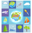 love earth poster made of square vector image