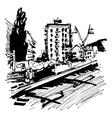 travel sketch drawing of Budva Montenegro vector image