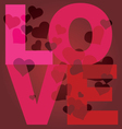 valentine day love message print vector image