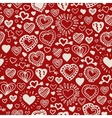 Valentine hand drawn pattern vector image