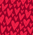 Valentines hearts pattern vector image