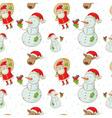 christmas figures seamless white big vector image vector image