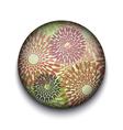Retro Floral App Icon vector image vector image