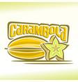 Logo for carambola vector image