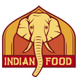 indian food label design vector image