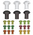 plain male polo shirt template set vector image vector image