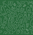 seamless pattern with letters vector image