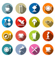 Colorful Circle Flat Design Restaurant - Food vector image vector image