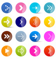 Colorful Arrows Set in Circles Isolated on White vector image vector image