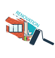 Renovation House remodelingflat design vector image