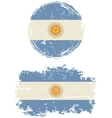 Argentinean round and square grunge flags vector image