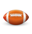 American Football isolated on White Background vector image