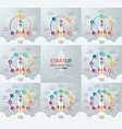 Startup circle infographic set vector image