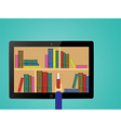 Chooses eBooks in the Internet store vector image
