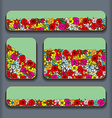 flowers pattern cards vector image