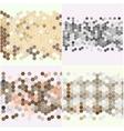 Geometric backgrounds set abstract hexagonal vector image