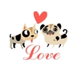 Lovers graphics funny puppies vector image