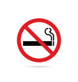 stop smoking red sign on white background vector image
