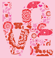 Valentine day love message floral print vector image