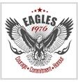 Vintage label Eagle - Retro emblem vector image