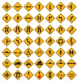 Warning Traffic Signs Set vector image
