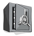 Security Metal Safe on White Background vector image