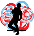 Dancing man vector image