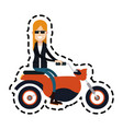 motorcycle or motorbike icon image vector image