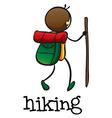A stickman hiking vector image