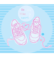 blue sneakers vector image