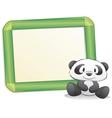 cartoon panda with frame vector image vector image