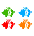 piggy banks vector image