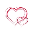 Painted hearts vector image