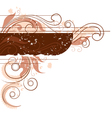 brown toned floral background vector image