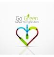 abstract logo idea eco leaf nature plant vector image