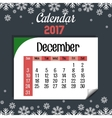 calendar 2017 template icon vector image