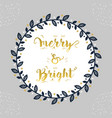 christmas and holiday merry bright navy blue vector image