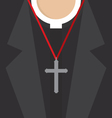 Cross Lanyard On Priest Neck vector image